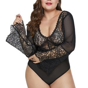 Other - Black Lace/Mesh Teddy